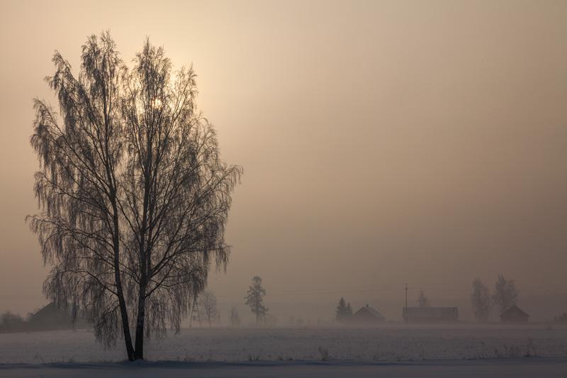 mroźna zima na podlasiu